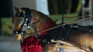 Video of wooden horse and carriage