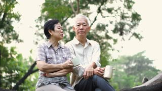 Asian senior couple having serious discussion. Life planning, financial and family issue