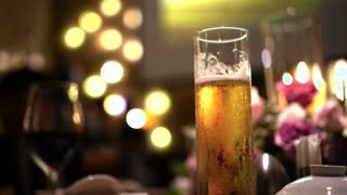 Beer At Luxury Dinner wedding ceremony background