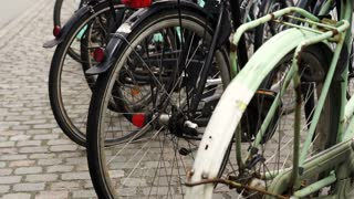 Bike Street Bikes parking in Amsterdam. World capital of bicycle transportation. Green eco friendly city
