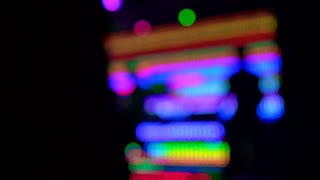 Blink Nightlife Blur background of DJ booth