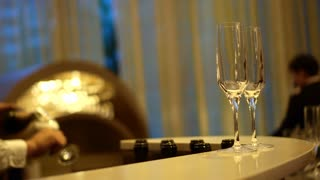 Champaign Pouring at hotel luxury party