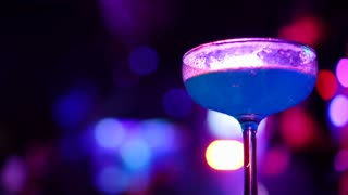 cocktail drink at nightclub party light
