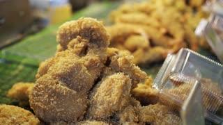 Crispy seafood bread flake battered fries seafood street food market