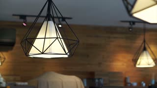 Decorate interior lamps in space