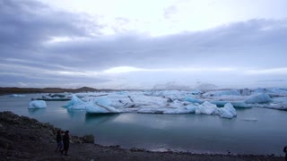 Editorial: Jokulsarlon, Iceland: April 2017; Tourist from all over the world come visit Jokulsarlon Glacial lagoon in Iceland.