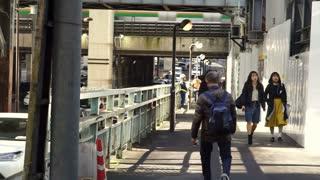 Editorial: Tokyo, Japan - December 2016: Japanese people walking in beautiful sun crossing and along pedestrian street in Tokyo