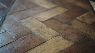 European brown polished stone tiles interior floor 4K