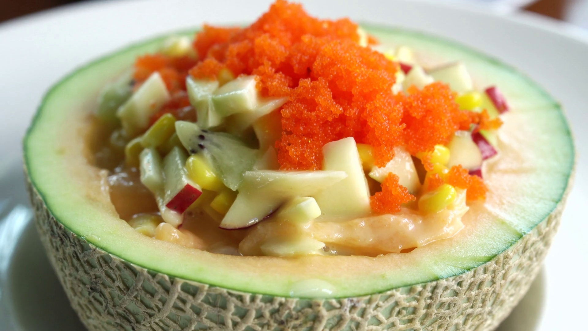 Cantaloupe Bowl : It also takes a while to eat it.