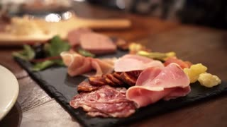 Gourmet cold cut platter with dried fruits