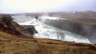 Gullfoss majestic waterfall in Iceland golden circle 4k