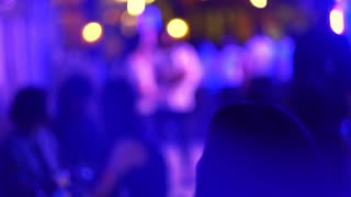 Night party event purple light blur video 4k