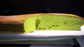 Pandan cake famous Singapore souvenir food