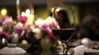 Red wine luxury dinner flower arrangement