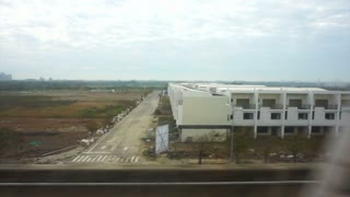 View from Taiwan High Speed Rail HSR train Window, full HD video