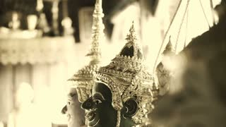 Vintage classic Thai performance, Khon. Indian origin religious tales transform in to beautiful culture art of South East Asia