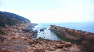 Water and stone transformation shaped rocks at the Yeliu (Yehliu) Geopark in Taiwan