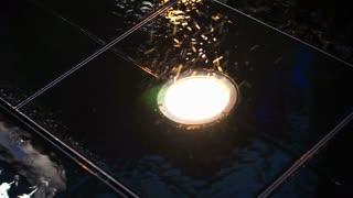 Waterproof floor lighting in rainy day