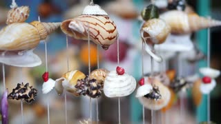 Wind chimes seashell handmade craft curtain