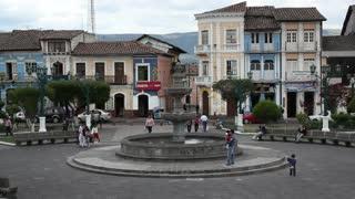 Andean town, Sangolqui near Quito, Ecuador