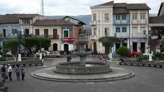 Andean town, Sangolqui, near Quito Ecuador