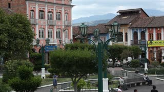Andean town, Sangolqui, near Quito, Ecuador