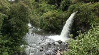 Andean waterfall, in the Andes, Ecuador.