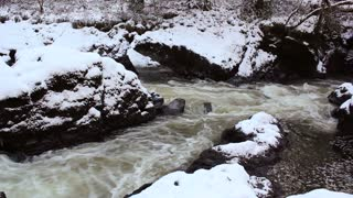 Beside the Teifi river, mid Wales, in the exceptionally cold winter of December 2010