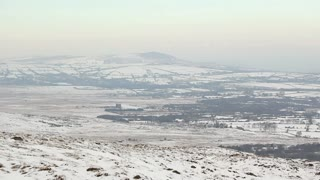 Frigid landscape viewed from Foel Drygan Fort, Wales