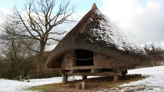 Iron age roundhouse in Wales, UK