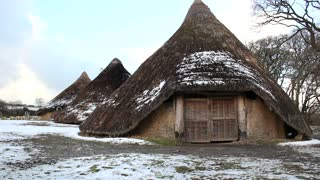 Iron age roundhouses in Wales, UK