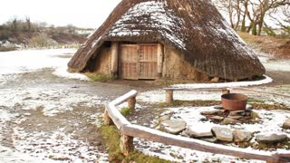 Iron age village in Wales, UK
