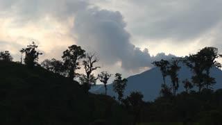 Reventador Volcano erupting in 2011, Ecuador