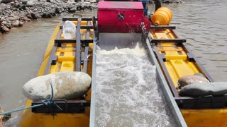 Suction dredge mining placer gold deposits