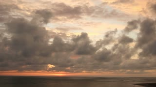 Tropical sunset cloudscape over the Pacific Ocean