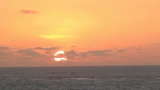 Tropical sunset over the Pacific Ocean