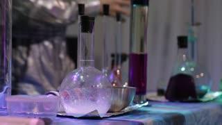 chemical tricks in a secret lab