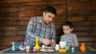 father and son paint colors ceramic pottery