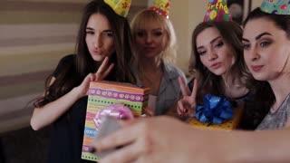 girls in caps do self on birthday