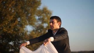 man preparing for a romantic rendezvous