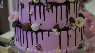 multi-tiered birthday cake