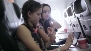 family will fly in and use the tablet