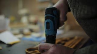 The carpenter's workshop produces holder for medals