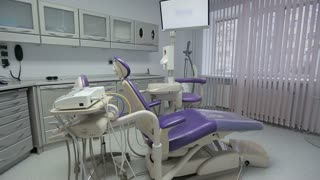 Dental office with equipment in clinic