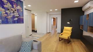 Home interior walk through living room warehouse conversion empty space modern apartment