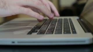 Laptop keyboard.Typing On A Laptop Keyboard,computer Literate Operator