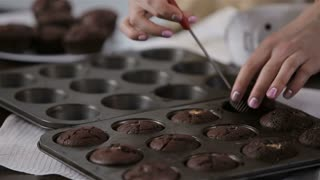 Process of cupcake cooking