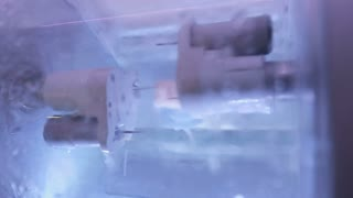 Process of polishing a new tooth from the dental blank inside the modern practice block