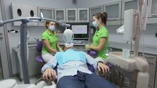 Stomatology. Teeth Whitening. Insulation gel soft tissue.