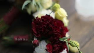 Three beautiful wedding bouquets